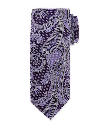 Woven Paisley Tie, Purple