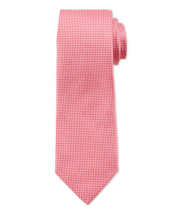 Textured Dot Silk Tie, Pink