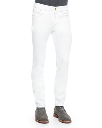 Ace Slim-Fit Denim Jeans, White