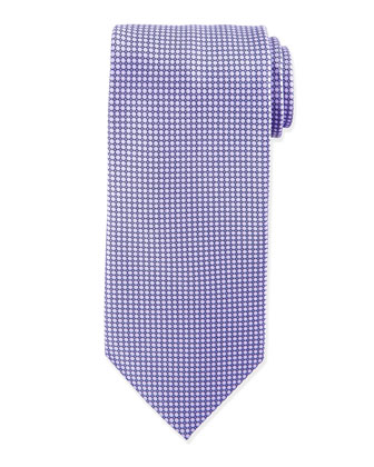 Micro-Dot Neat Silk Tie, Purple