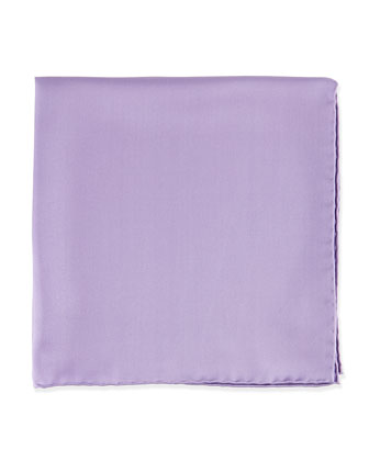 Silk Pocket Square, Lavender