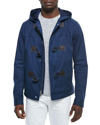 Cropped Duffle Coat, Indigo