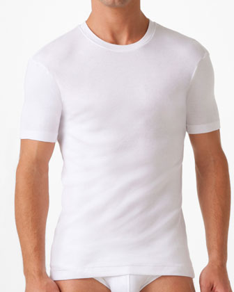 Pima Crewneck T-Shirt, White