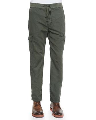 Fatigue Weekend Cotton Cargo Pants, Green