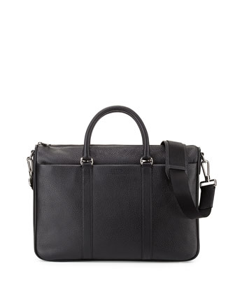 Zip-Top Flat Business Bag, Black