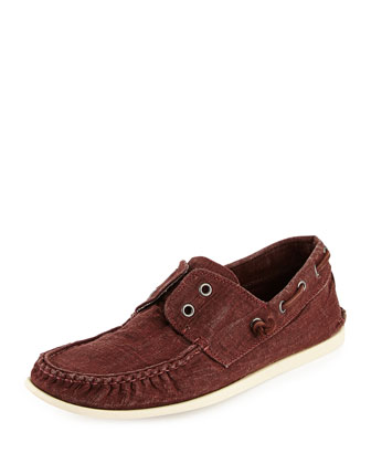 Schooner Canvas Boat Shoe, Red