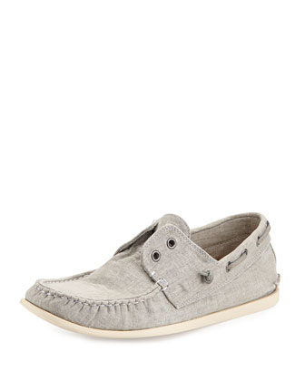 Schooner Canvas Boat Shoe, Gray