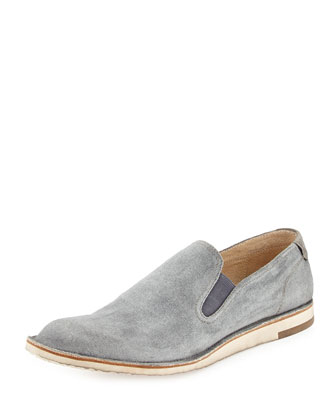 Mayfield Canvas Slip-On Shoe, Gray