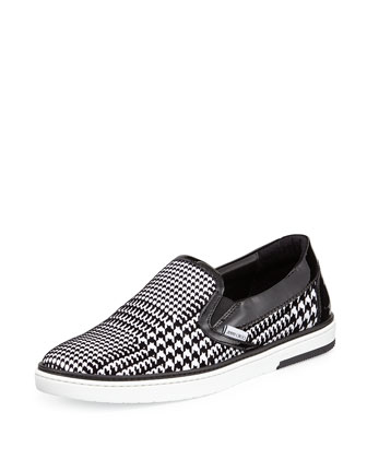 Grove Men's Houndstooth Skate Shoe, Black/White