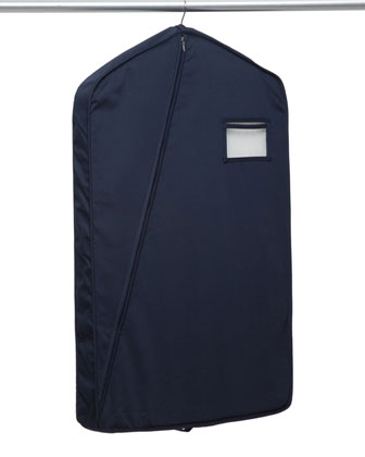 Short Luxury Garment Bag, Navy