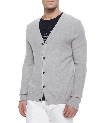 Maurice Cotton Cardigan, Gray