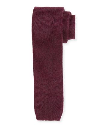 Wool Woven Tie, Purple