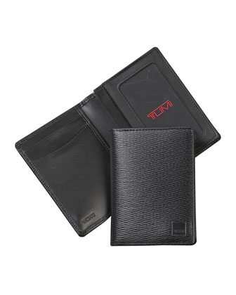 Monaco Gusseted Card Case, Black