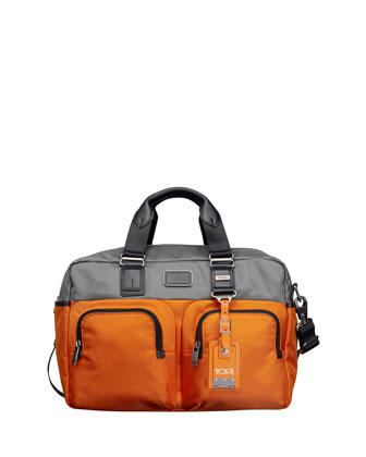 Bravo Everett Essential Tote, Gray/Orange