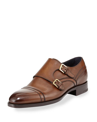 Kensington Double Strap Monk Shoe, Brown
