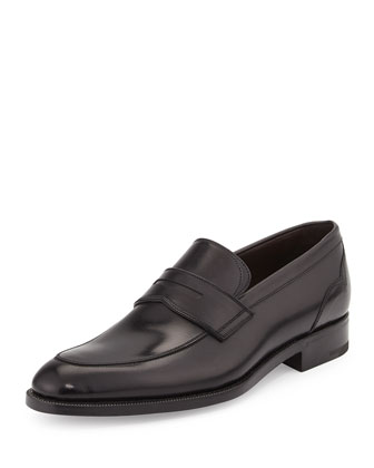 Calfskin Penny Loafer, Black