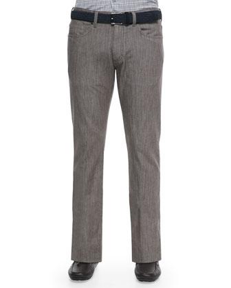Stretch Denim Jeans, Brown