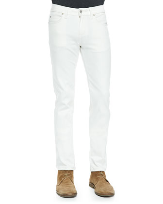 Power Stretch Skinny-Fit Jeans, Ivory