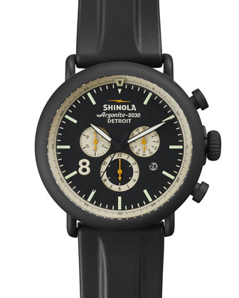 47mm Runwell Chronograph Watch, Black