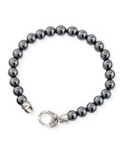 Hematite Bead Sterling Silver Bracelet