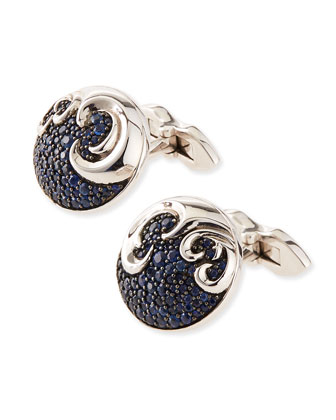Aquarius Sterling Silver Cuff Links