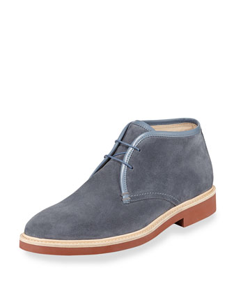 Aspen Suede Chukka Boot, Light Blue