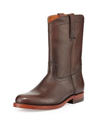 Roper Artisanal Men's Western Boot, Dark Brown
