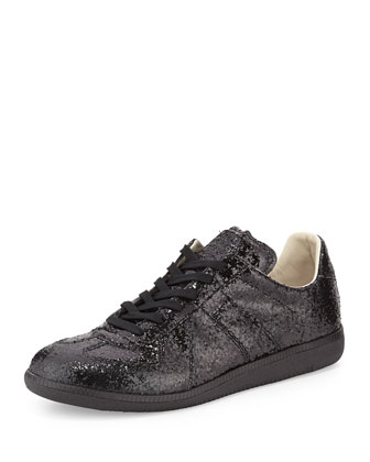Replica Low-Top Sneaker, Black Glitter