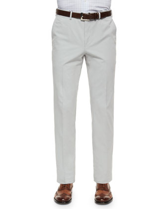 Cotton/Cashmere Five-Pocket Pants, Stone