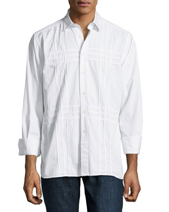 Bodie Clipped Long-Sleeve Shirt