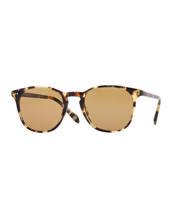 Sir Finley 49 Sunglasses, Vintage Dark Tortoise Brown with Champagne