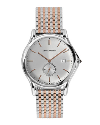 Quartz 40mm Two-Tone Watch, Rose Golden