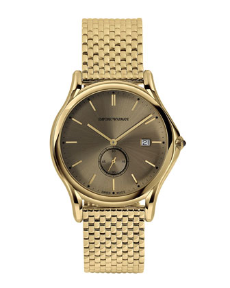 40mm Quartz Watch, Golden