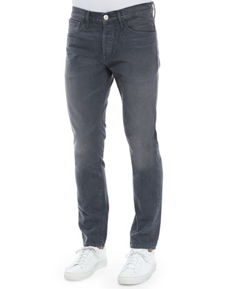 M3 Brolin Slim-Straight Denim Jeans, Dark Gray