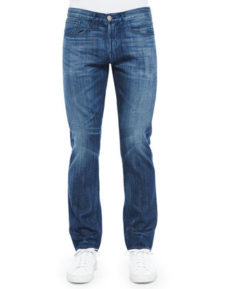 M4 Bedford Relaxed Denim Jeans, Medium Blue