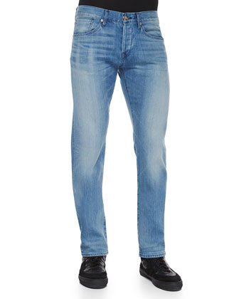 M5 Lorimer Slim-Fit Denim Jeans, Light Blue