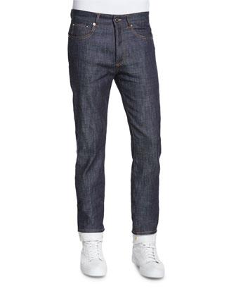 Raw Slim Denim Jeans, Indigo