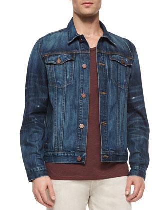 Bonzai Woven Denim Jacket, Blue