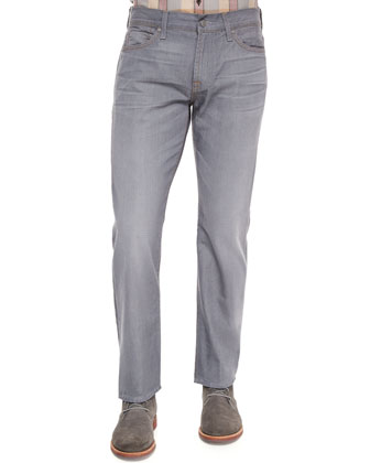 Standard-Fit Vaporous Denim Jeans, Dark Gray