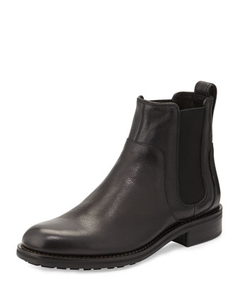 Connor Leather Chelsea Boot, Black