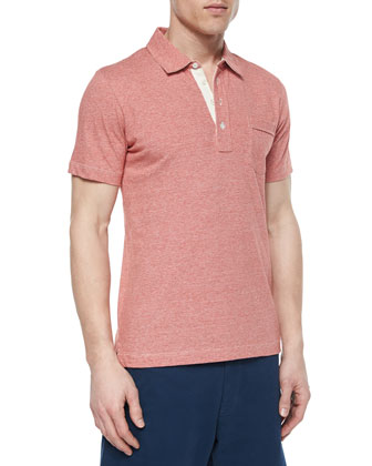 Pensacola Jersey Polo Shirt, Red