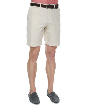 Donelson Short-Sleeve Linen Shirt & Wynn Triple-Washed Chino Shorts