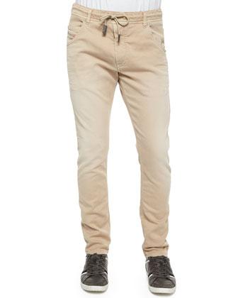 Krooley 0664A Jogger Khaki Jeans, Beige