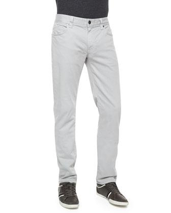 Jimmy Havana Twill Slim-Fit Pants, Dark Gray