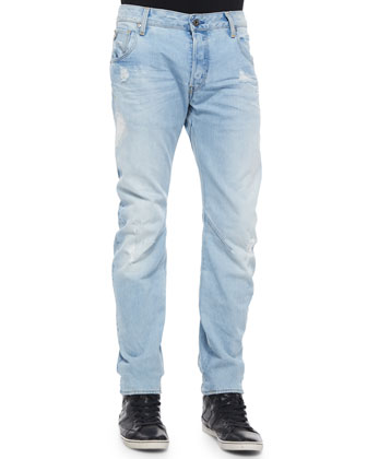 Arc 3D Slim Light-Wash Denim Jeans, Light Blue