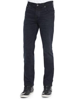 Grim Tim 11-Months Washed Denim Jeans, Black