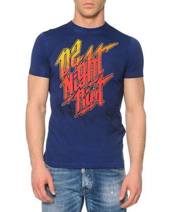 Night Riot Graphic Tee & Slim-Fit Distressed Jeans