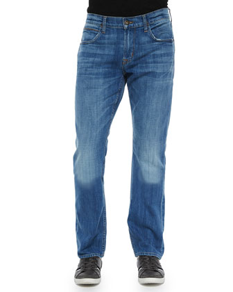 Byron Bixby Straight-Leg Denim Jeans, Light Blue