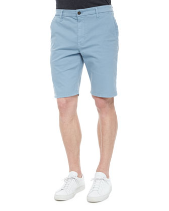Brixton Woven Trouser Shorts, Light Blue