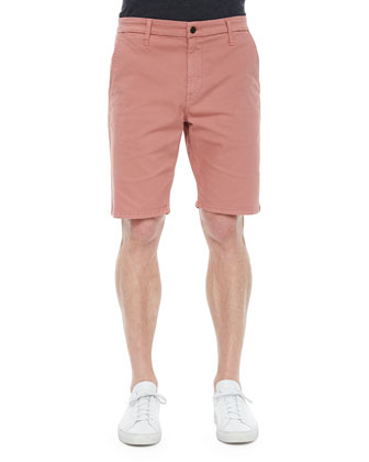 Brixton Woven Trouser Shorts, Light Red